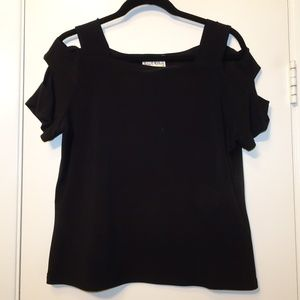 Joseph Ribkoff j Cut-Out Top | Black | 16